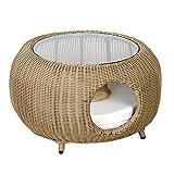 WLDOCA Casa del Animal doméstico y un sofá, Peluche pequeño iglú Gato Cama del Perro de Cuatro Estaciones, con cojín Desmontable