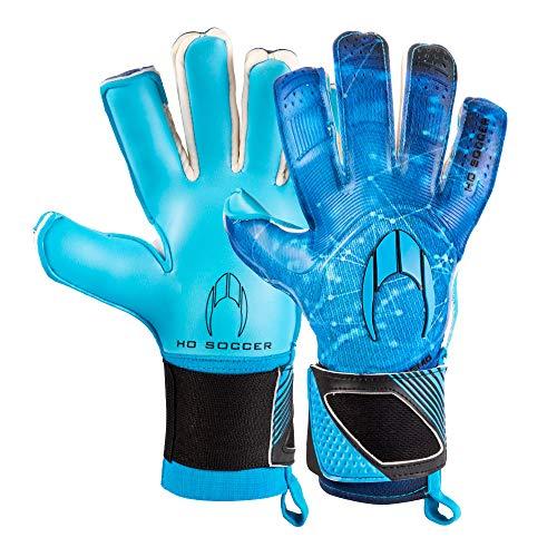 HO Soccer Premier Supremo II Roll/Negative Blue Torwarthandschuhe, Unisex Erwachsene Einheitsgröße Blau/Schwarz