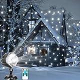 Proiettore Fiocchi di Neve, Faretti LED Illuminazione Luci Natale Esterno, Proiettori Luce...