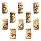 YARNOW 50 Piezas de Tapones de Botella de Vino Tapón de Corcho Natural Recto DIY Craft Soft Wood Corks Cubierta de Sellado para Tapar Proyectos de Arte de Fabricación de Vinos Caseros