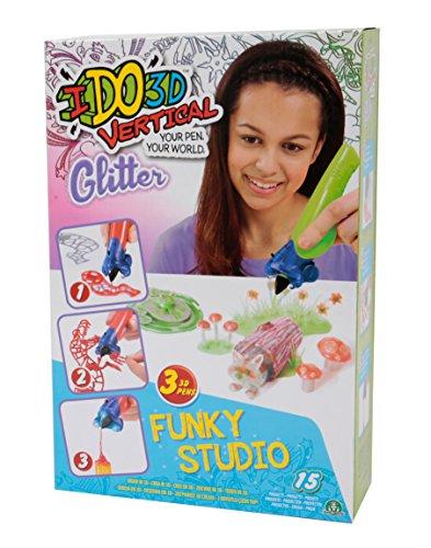 Giochi Preziosi- Giochi Preziosi-IDO3D Vertical Set Funky Studio Glitter con 3 Penne, Tema Animali della Foresta, Disegno e Creazione in 3 Dimensioni, D3D09310