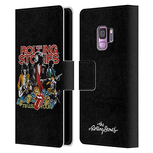 Head Case Designs sous Licence Officielle The Rolling Stones 78 États-Unis Tour Vintage Art Clé Coque en Cuir à Portefeuille Compatible avec Samsung Galaxy S9