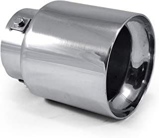 Universal 0041 Car Double Dual Twin Exhaust Tip Trim End Pipe Tail Sport Muffler Stainless Steel Chrome