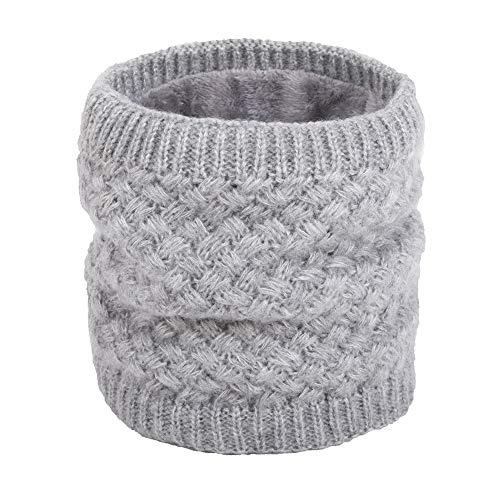 ANGTUO Unisex Strick Schal, Dicke Winter Halswärmer Soft Wrap Schals Schleife Infinity Halstuch für Frauen und Männer Outdoor Sports
