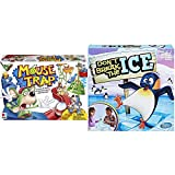 Hasbro Gaming Mouse Trap Board Game for Kids Ages 6 and Up (Amazon Exclusive) & Don't Break The Ice Game