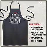 YORA Grillschürze für Männer Vatertagsgeschenk - Mein Grill - Kochschürze lustig [inkl. Urkunde] - lustige Geschenke zum Vatertag - Geschenkideen Papa & Opa - 7