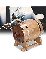 Barril De Roble, 1L Barril de cerveza de roble, Mini dispensador de vino de barril de madera Equipo de elaboración de cerveza, para cerveza, vino, whisky, tequila, ron,
