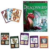 子供のためのドラゴンウッドゲームドラゴンウッドボードゲーム拡張パックドラゴンウッド8歳以上の子供のための友人と家族のための幸運とあえてカードゲームのゲーム