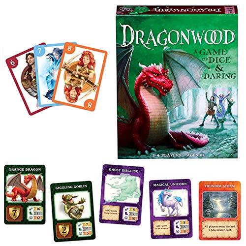 NXX Dragonwood Jeu De Cartes Splendor Brettspiel Familienspiele Für Kinder Und Erwachsene Dragonwood EIN Spiel Mit Viel Glück Und Pflicht Kartenspiel Für Freunde Und Familie Für Kinder Ab 8 Jahren