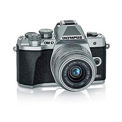 Olympus OM-D E-M10 Mark IIIs Silver Body with Silver M.Zuiko Digital 14-42mm F3.5-5.6 IIR Lens (V207111SU000) by Olympus
