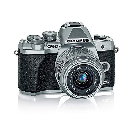 Olympus OM-D E-M10 Mark IIIs Silver Body with Silver M.Zuiko Digital 14-42mm F3.5-5.6 IIR Lens (V207111SU000)