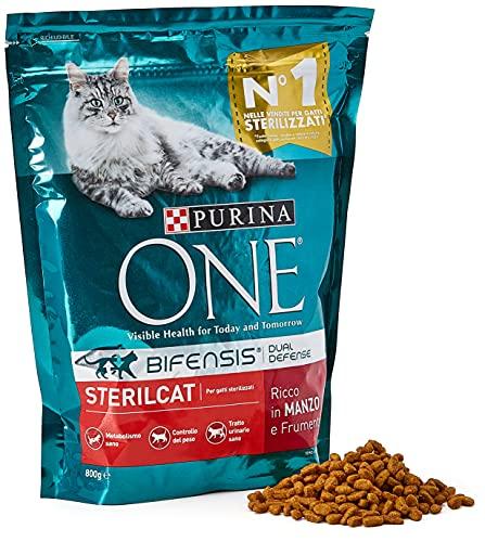 PURINA ONE Bifensis Pienso para Gatos Esterilizados Buey y Trigo 8 x 800 g ✅