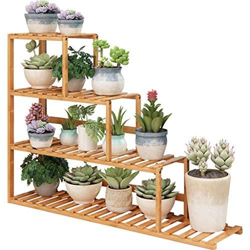 Multi-Layer Plant Stand Display Flower Stand Bamboe Materiaal Gezondheid En Milieubescherming Vensterbank Pot Rack Handige Installatie