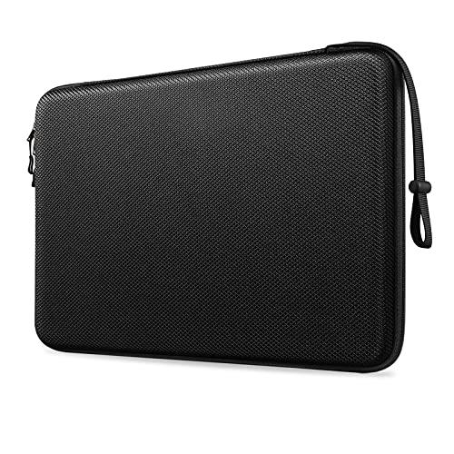 FINTIE Funda para Portátil de 15,4 Pulgadas, Concha Dura Antigolpes Bolsa para MacBook Pro 16 2019-2021, MacBook Pro 15.4', Surface Book 3/2/1 15', Huawei/Lenovo/ASUS 15' Laptop, Negro