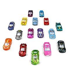 Idea Regalo - TONZE Mini Modellini Auto Giocattolo Macchine Metallo 1:64 Set Veicoli Racing Car Giochi Macchinine per Bambini Veicolo Giocattolo Ragazzi Ragazze 3 4 5 Anni, 16 Pezzi