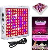 Froadp 300W LED Pflanzenlampe Innengarten Pflanze Wachsen Licht Multiple Spektrum 100 LEDs Grow Light Panel für Zimmerpflanzen Gewächshaus Pflanzenlabor Gemüse Blumen(Blau+Rot+Weiß+UV+IR, Quadrat)