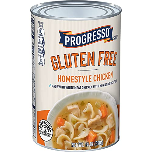 Progresso Gluten Free Homestyle Chicken Soup, 14 oz (Pack of 8)