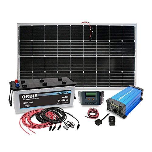 Insel Solaranlage PV-Anlage 1000W AC/Panel, Batterie, Laderegler, Sinus Wechselrichter