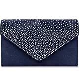 Milisente Evening Bag for Women, Glitter Rhinestone Wedding Evening Purse Crystal Envelope Crossbody Shoulder...