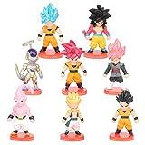 Dragon Ball Cupcake Toppers, FANDE 8PCS Naruto Figuras Set Naruto Happy Birthday Party Supplies Decoraciones