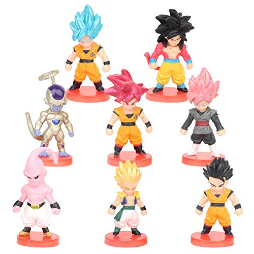 Dragon Ball Cake Topper, FANDE 8PCS Personaggi Dragon Ball Birthday Decorazioni Party Supplies per Bambini Doccia di Compleanno Decorazioni