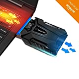 ADVITECK WIND+ 2018 - Refroidisseur PC Portable Gamer le Plus Simple - Ventilateur Extracteur d'Air Silencieux - Compatible Avec...
