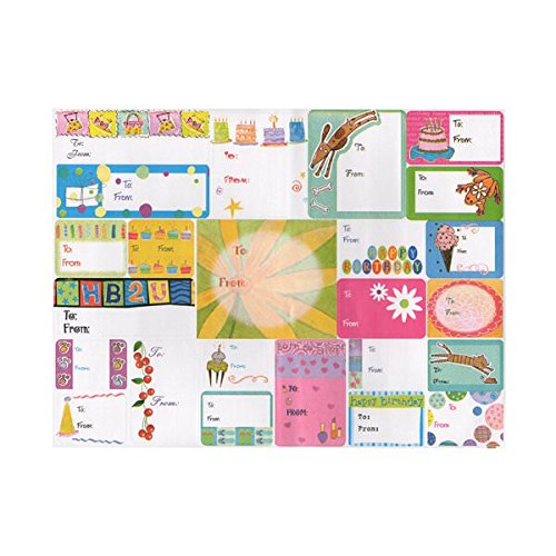 JAM PAPER to/from Gift Tag Stickers - Colorful All Occasion - 100/Pack