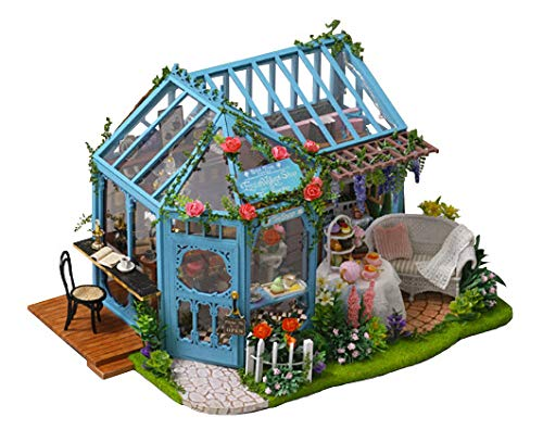 [リトルスワロー] DIY 英国風 ローズガーデン ティールーム オルゴール付き ドールハウス ミニチュアハウス 手作りキット 組立キット 3d おしゃれ かわいい 可愛い 置物 インテリア ハウスキット ホビー プレゼント