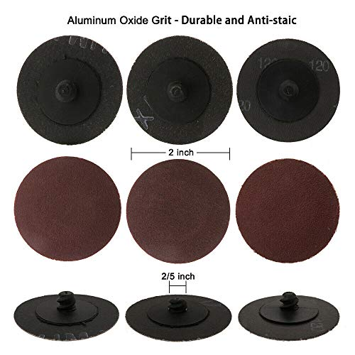 Amazing Deal Xucus Coarse Sanding Discs Aluminium Oxide 1/4 shank holder Roll Lock Alloys Plastic