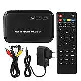 Eboxer Lettore multimediale HDMI, Mini Lettore multimediale Video VGA AV Full HD 1080p per -MKV/Supporto Avi U...