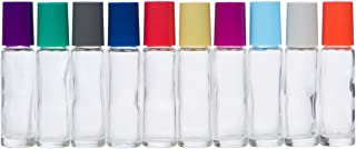 The Root and Petal Set of 10 Multicolored Glass Roller Bottles with Glass Balls for Essential Oils - The Original Palette