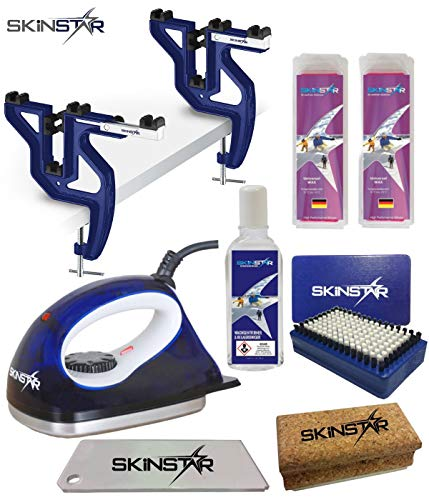SkinStar Skiwax Set skiwax voor snowboard met wax strijkijzer en spanner