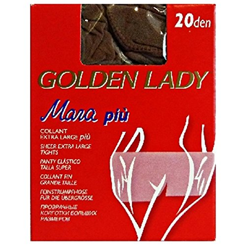 GOLDEN LADY CALZECOL70AFUM5 Mara Collant 20 den Fumo Taglia XL 70a, Unisex-Adulto
