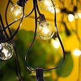 Torkase Guirnaldas luminosas de exterior G40 Cadena de Luces 10m con 30+3(Bombilla de Repuesto) Vintage Edison Incandescentes IP44 Impermeable Perefcto para Fiesta,Boda,Jardín Patio Cafe