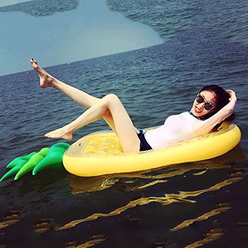 Colchoneta hinchable con formade,Hamaca Flotante Piscina,Tumbona Hinchable Colchoneta,Hinchable Flotador Piscina,Flotadores Piscina,para juegos de fiesta en la piscina en la playa al aire libre: piña