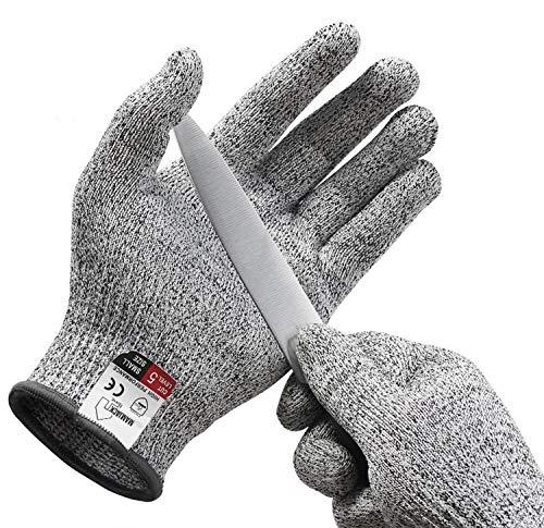 Mamjack® Schnittschutz-Handschuhe (1 Paar) – Extra Starker Level 5 Schutz, EN-388 Zertifiziert, Lebensmittelecht – Hochwertig und Leicht, für alle Zwecke - Perfekte Passform (Medium)