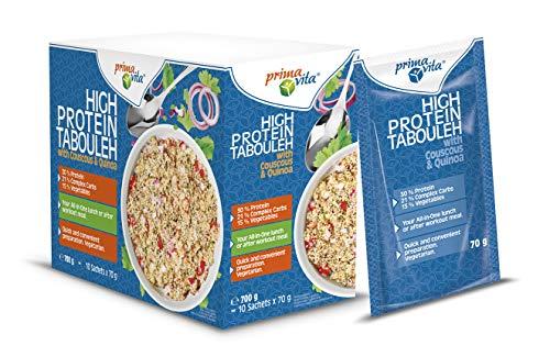 Primavita - Lot de 10sachets de taboulé à la semoule de couscous et au quinoa, 70g