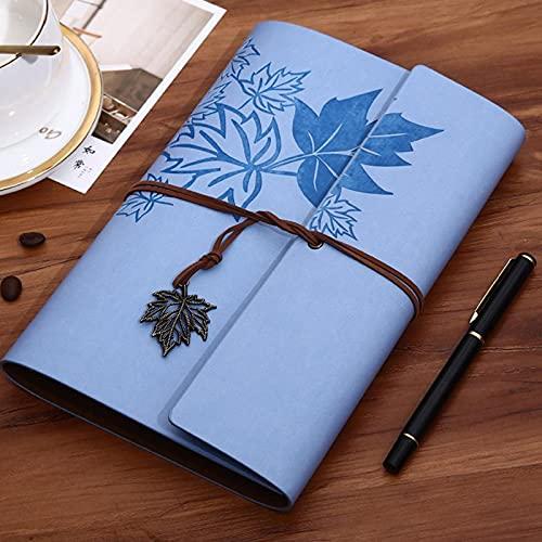 S.HT SHT Viajeros Vintage Cuaderno PU Cuero en Blanco Kraft Diario Diario Book Diario Sketchbook Papelería Securma Oficina Suministros A7 / A6 / A5