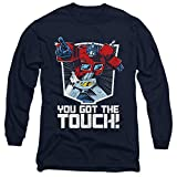 Transformers You Got The Touch Unisex Adult Long-Sleeve T Shirt for Men and Women, X-Large Navy