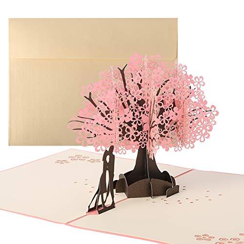 You&Lemon Tarjeta de boda 3D para Día de San Valentín, Aniversario, Felicitación, Boda, Cumpleaños Regalo de Boda para Novios, Novias