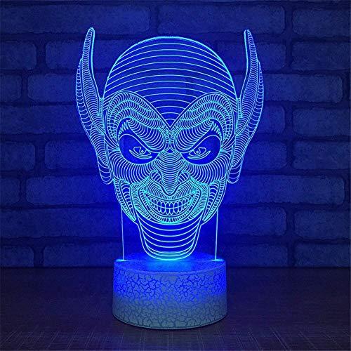 Veilleuses 3D, 7 couleurs changeantes, Veilleuses tactiles 3D Movie Character, Usb Led Lampe de table, Décoration de la maison, Cadeaux créatifs pour l'éclairage de chevet