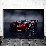 KWzEQ Retro Muscle Car Race Carteles e Impresiones Arte de la Pared Lienzo Cuadros de Pared decoración para el hogar50X70cmPintura sin Marco