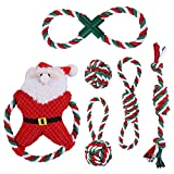 P/ 6 Piezas De Juguete De Cuerda para Perros De Navidad, Juguetes De Arrastre para Perros Grandes Y Fuertes para Limpiar Los Dientes Y Masajear Las Encías, Cuerda De Tira Y Afloja para Perros