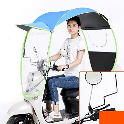 CLX Universal Motorrad Regenschirm Sonnenschutz Regenschutz Auto Motor Roller Wasserdicht Regenschirm,D,M