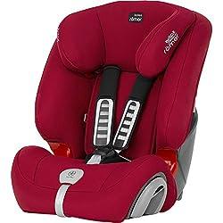 Britax Römer Kindersitz 9 Monate - 12 Jahre I 9 - 36 kg I EVOLVA 123 PLUS Autositz Gruppe 1/2/3 I Flame Red