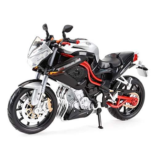 JBlaite-Model car Maßstab 1:12 Druckguss-Motorrad-Modell/Kompatibel mit Benelli TNT/Simulation Legierung Modell Spielzeug-Motorrad-Modell (Color : Black)