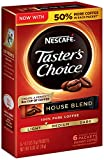 Nescafe Taster's Choice Instant Coffee, House Blend, 6 Count