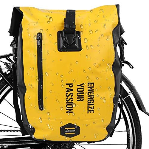 Omabeta Fahrradtasche zum Aufhängen, für Mountainbikes, für Damen und Herren, universell einsetzbar zum Radfahren und Wandern (vollständig wasserdicht, gelb)
