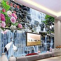 Ljjlm カスタム大規模壁画水の健康崔山西安滝3Dテレビ背景壁壁紙パペルデパレデ-280X200Cm
