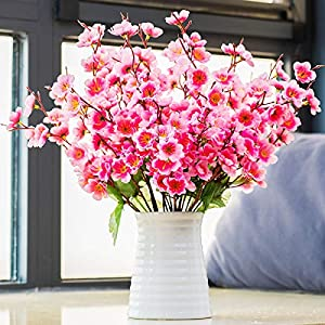 moomass Plum Blossom Artificial Flower, Fake Flower Table Decoration, Floral Decoration, Used for Home Office Decoration